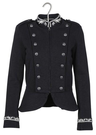 Veste officier en coton Noir by DENIM AND SUPPLY BY RALPH LAUREN Manteau Gris  Femme, 4d77fc3f1e5