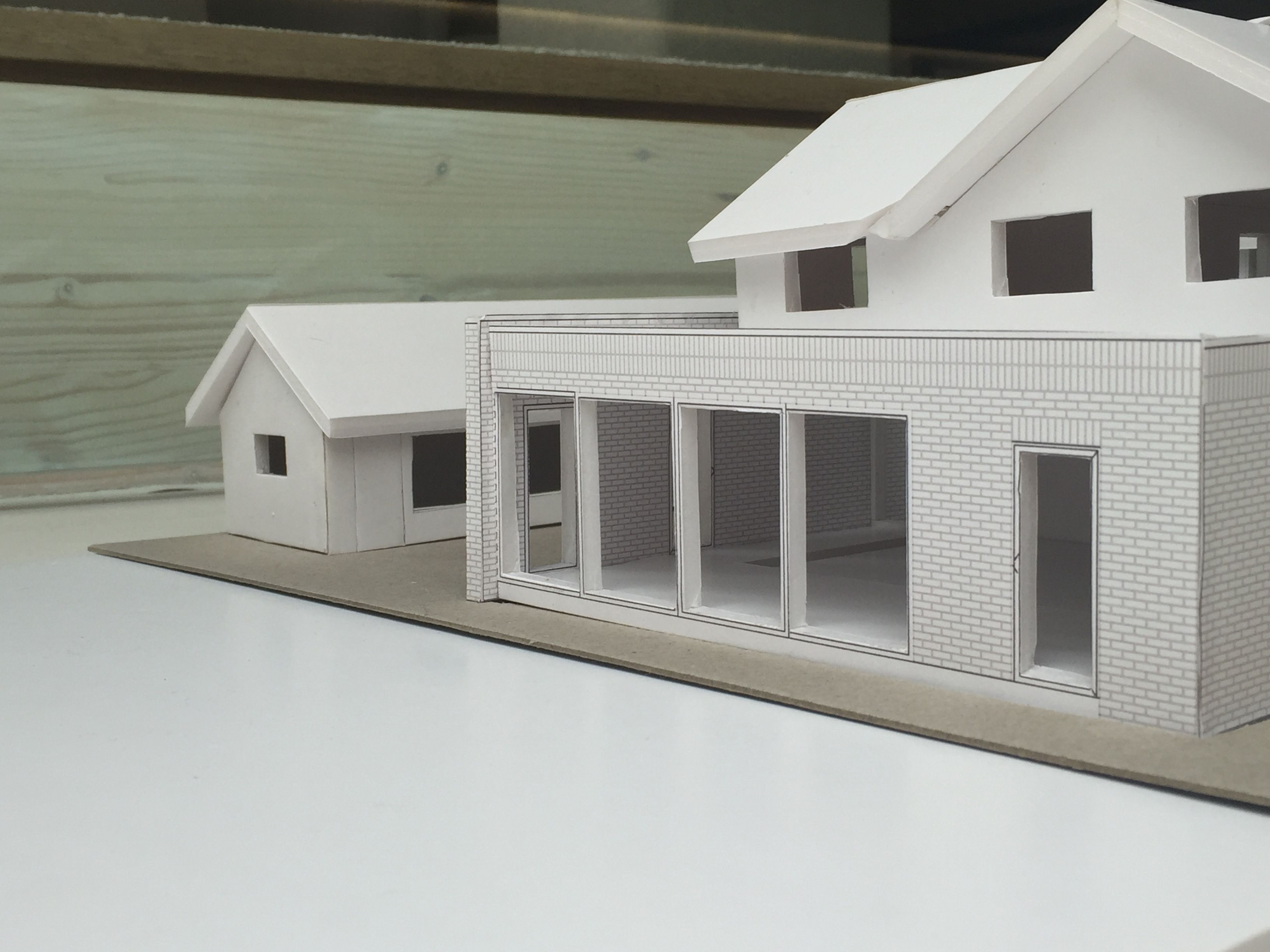 Annabelle Tugby Architects Architectural Foam Board Model Of Single Storey Brick Extension Architecture Architecture Model Architect