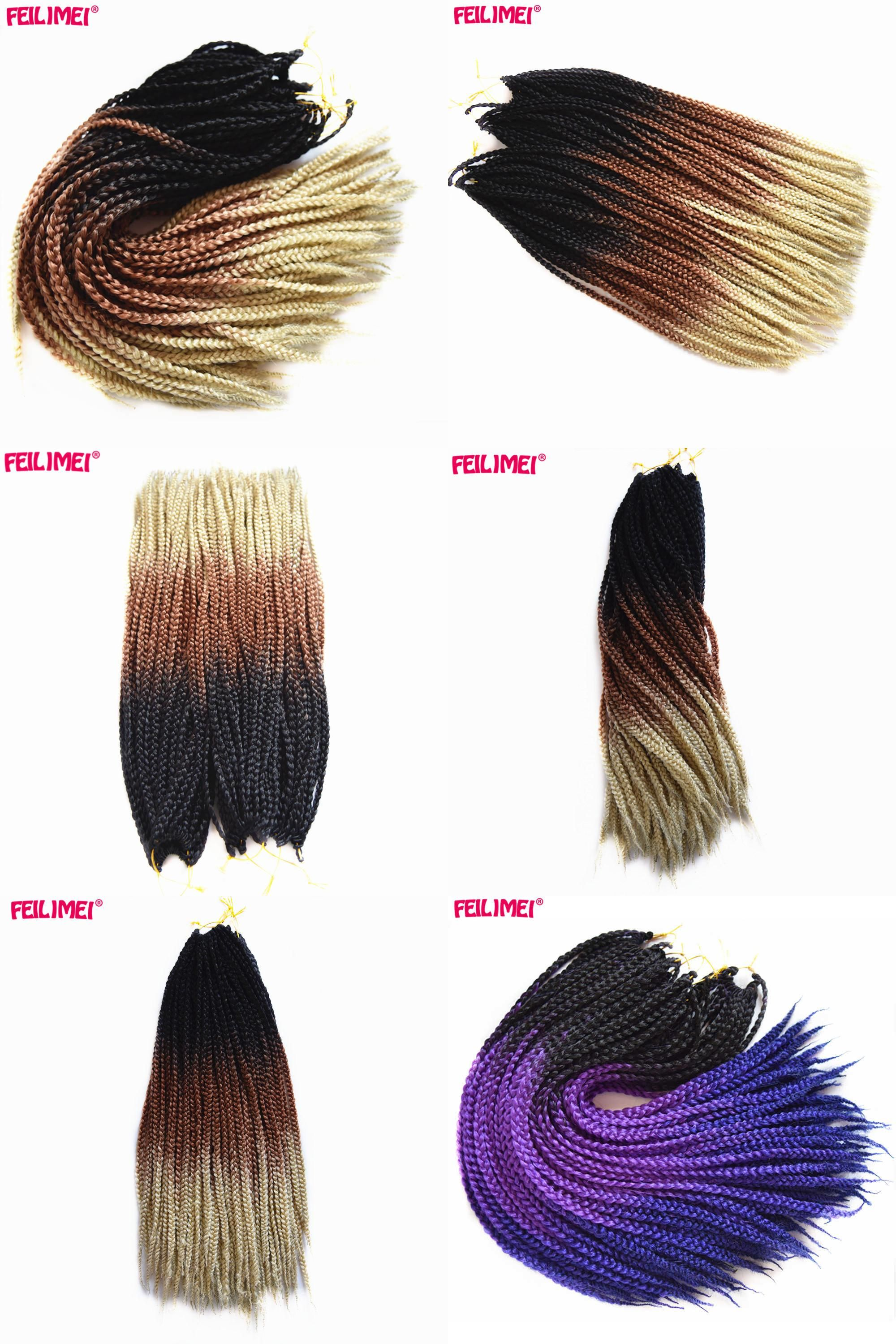 Visit To Buy Feilimei Ombre Blonde Freestress Braiding Hair