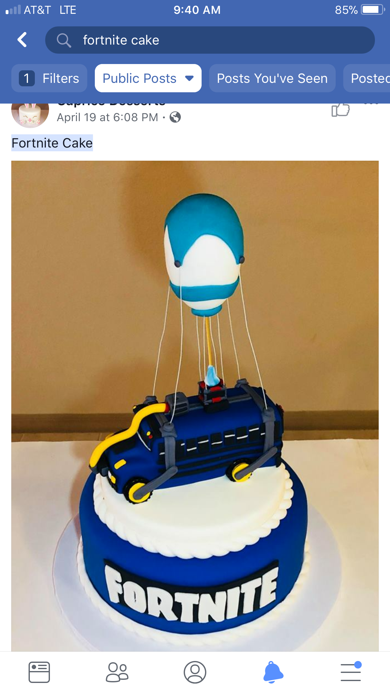 Fortnite Battle Bus Cake From Facebook Sweets In 2019 Birthday