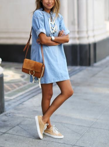 How to Wear a Dress with Sneakers: 13 Looks to Try