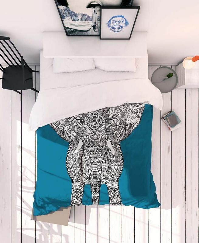 aztec elephant en linge de lit linge de lit draps de luxe literie en lin