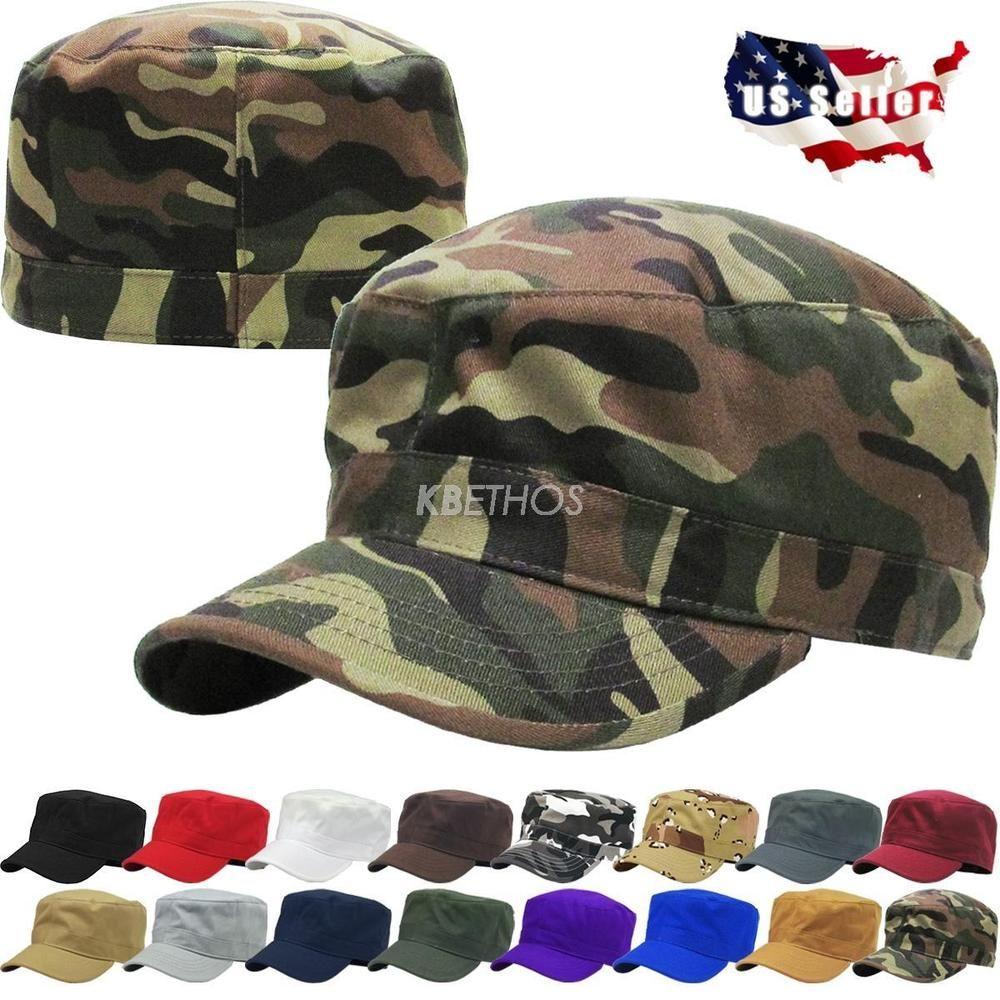 e15da80ba01d04 $9.99 Buy It Now Army Cadet Military Patrol Castro Cap Hat Men Women Golf  Driving Summer Baseball
