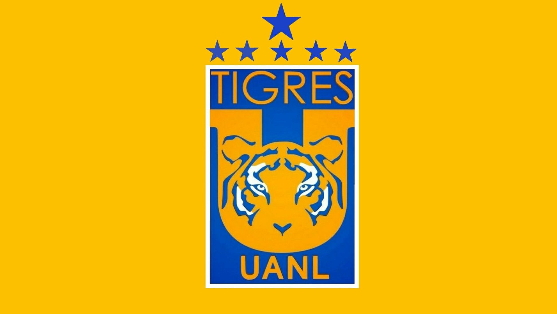 Escudo Tigres Unal 6 Estrellas Tigres Uanl Locked Wallpaper Y