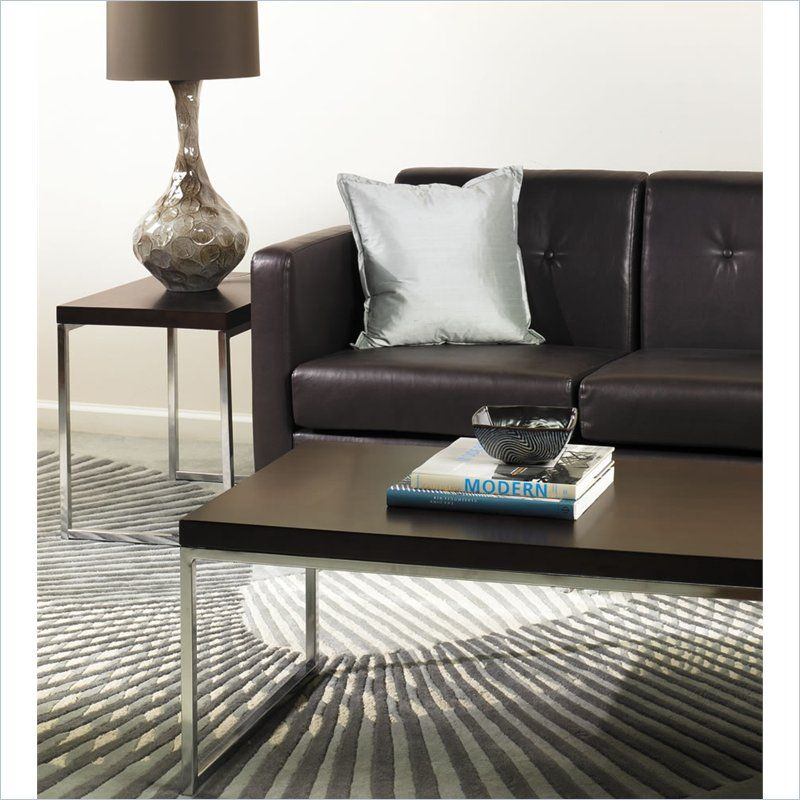 2 Piece Coffee and End Table Set in Espresso Espresso coffee table