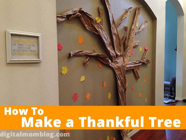 How To Make A Wall Thankful Tree Thankful Tree Thanksgiving Tree Thanksgiving Gratitude