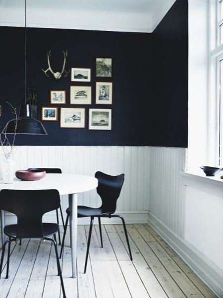 Cool Way To Do Black Walls Interior Home Decor Home