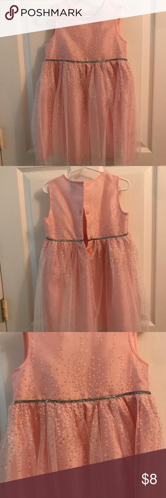 4t Never Worn Pink Dress With Sparkly Polkadots Pink Dress Wear Pink Dresses [ 1740 x 580 Pixel ]