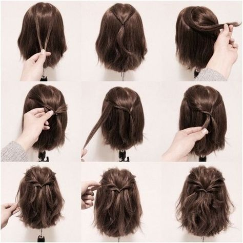 Ideas for hairstyles | GOOD HOUSE WIFE: #hairupdotutorial