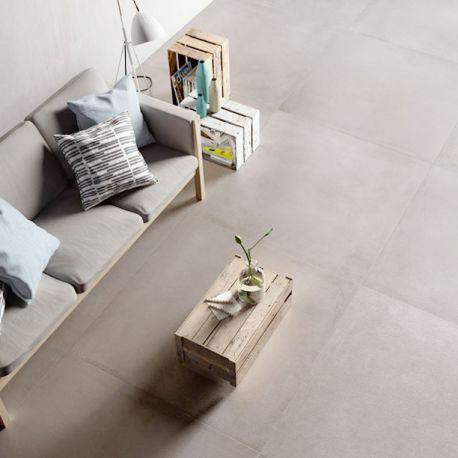 Carrelage xxl concrete ash 120x120 cm d co sol - Credence carrelage grand format ...