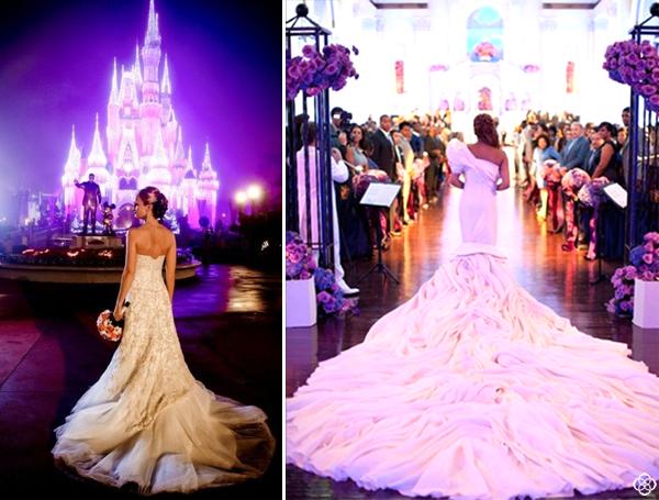 fairytale weddings dresses disney disneyland drama purple lights