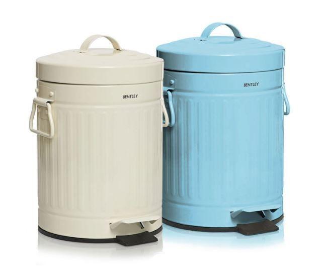 retro pedal bin cream waste paper basket trash can vintage bathroom kitchen lids in 2018. Black Bedroom Furniture Sets. Home Design Ideas