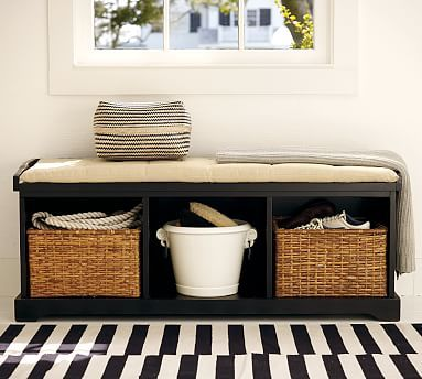 Samantha Bench Potterybarn With Images Storage Bench With Cushion Bench Decor Bench With Storage