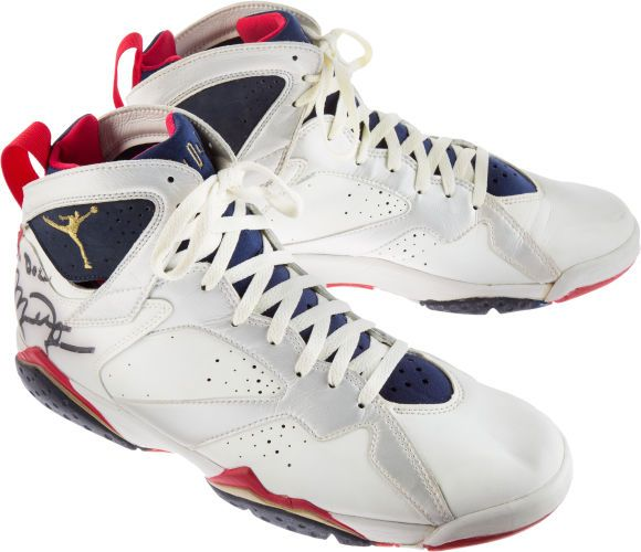 Micheal Jordan autographed shoes, from the 1992 U.S. Olympic Dream Team
