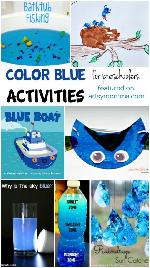 Color Blue Learning Activities and Craft Ideas | Projects to Try | Color red activities, Color ...