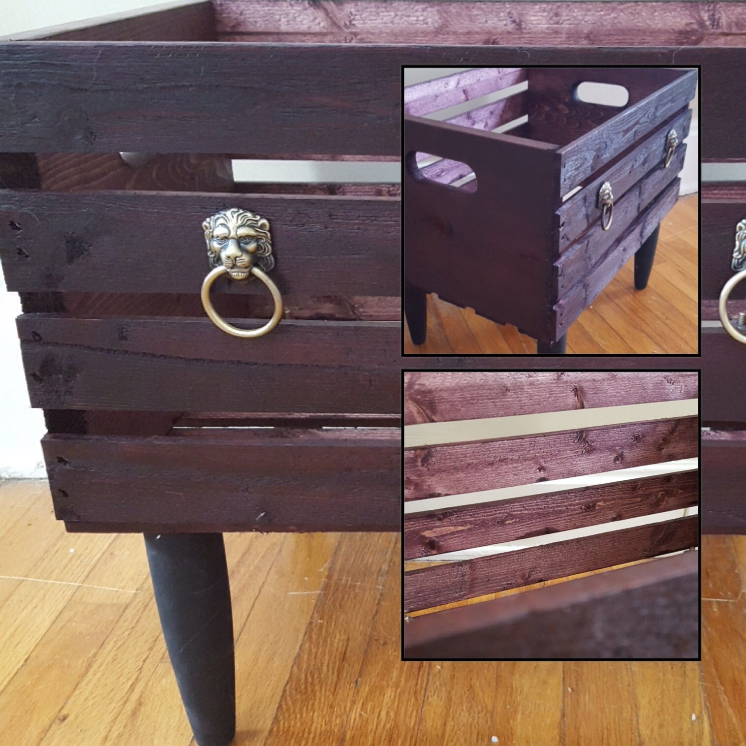 Used Varathane Dark Cherry stain on a pine box one coat on the