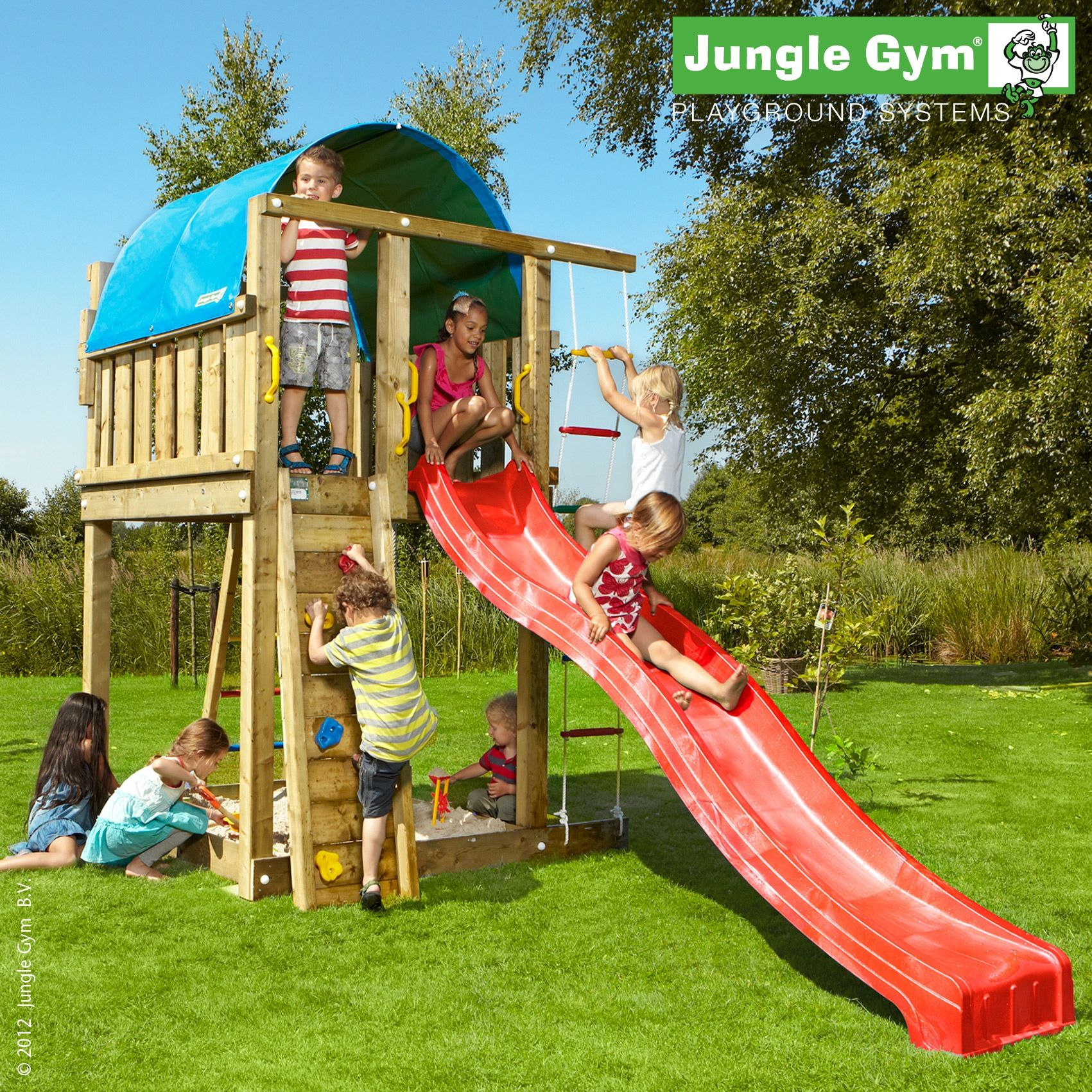 Jungle Villa A large outdoor play equipment with a climbing