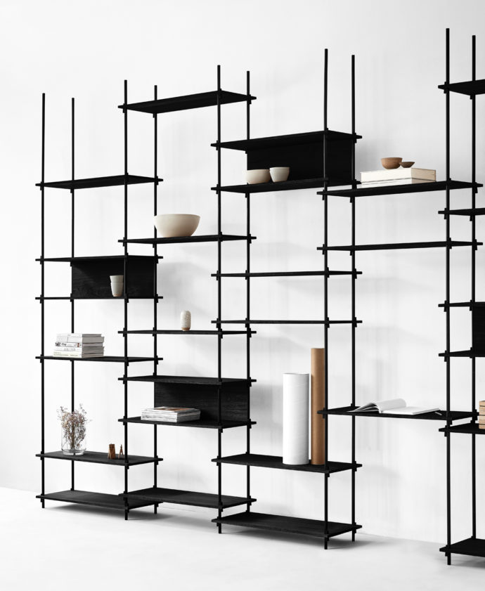 Wedges instead of screws: The new shelving system from Moebe