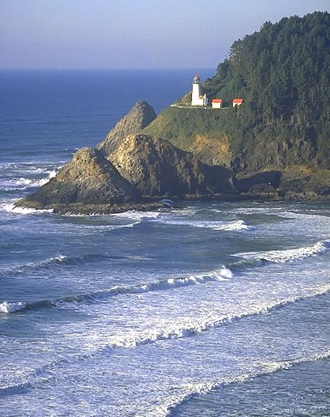 Heceta Head Lighthouse. It is hard to believe this was the view out of my car window for 7 years. So beautiful and I miss living right across from the ocean.