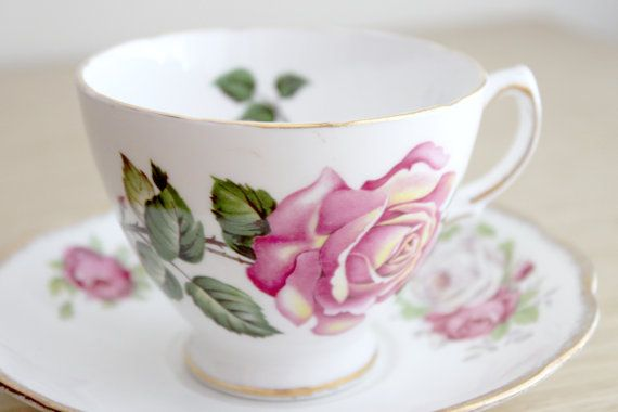 Vintage Royal Vale Bone China Teacup in Pink by DaydreamParlour