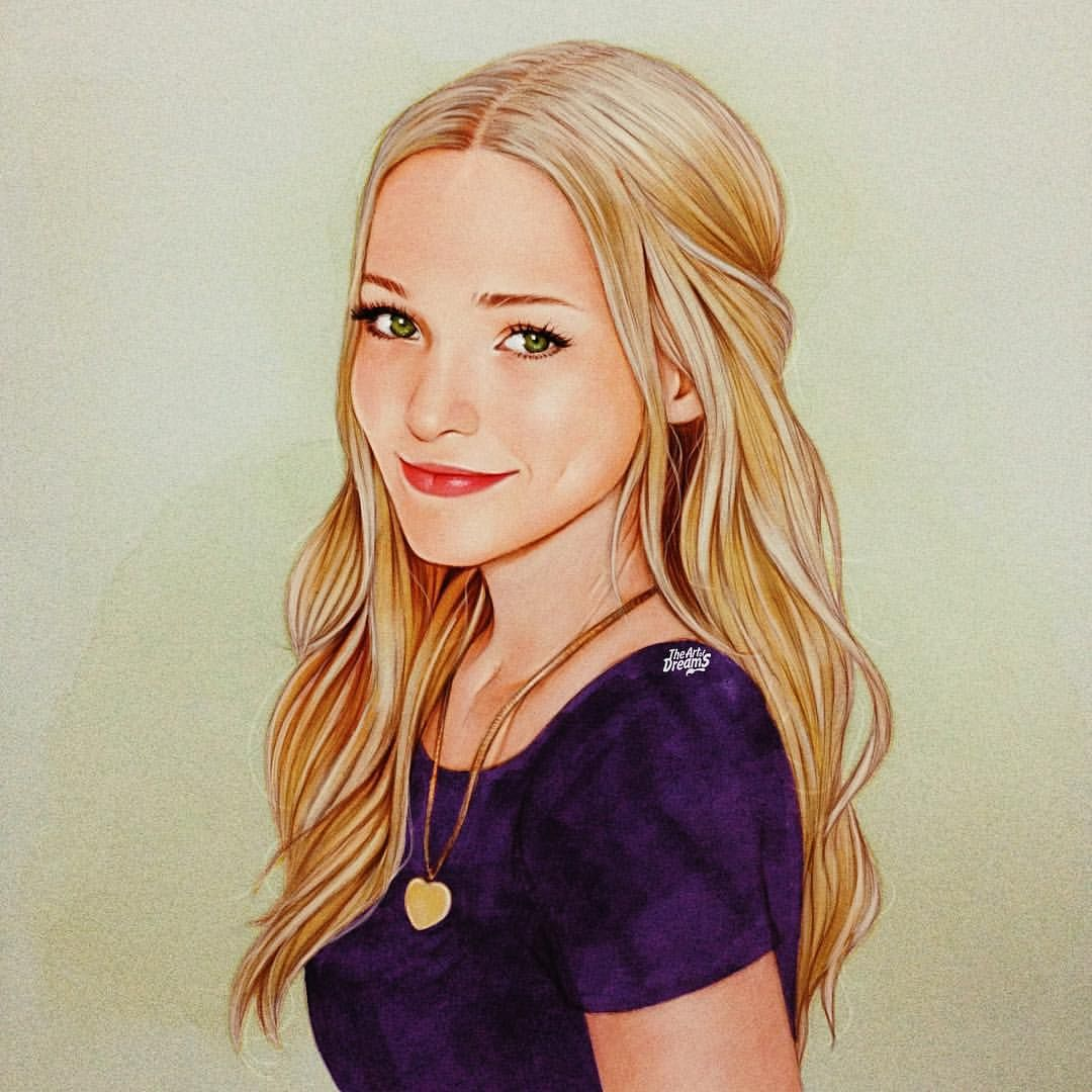 The Art Of Dreams On Instagram Dove Cameron Drawing While Waiting For Descendants2 Dove Cameron Celebrity Artwork Celebrity Drawings