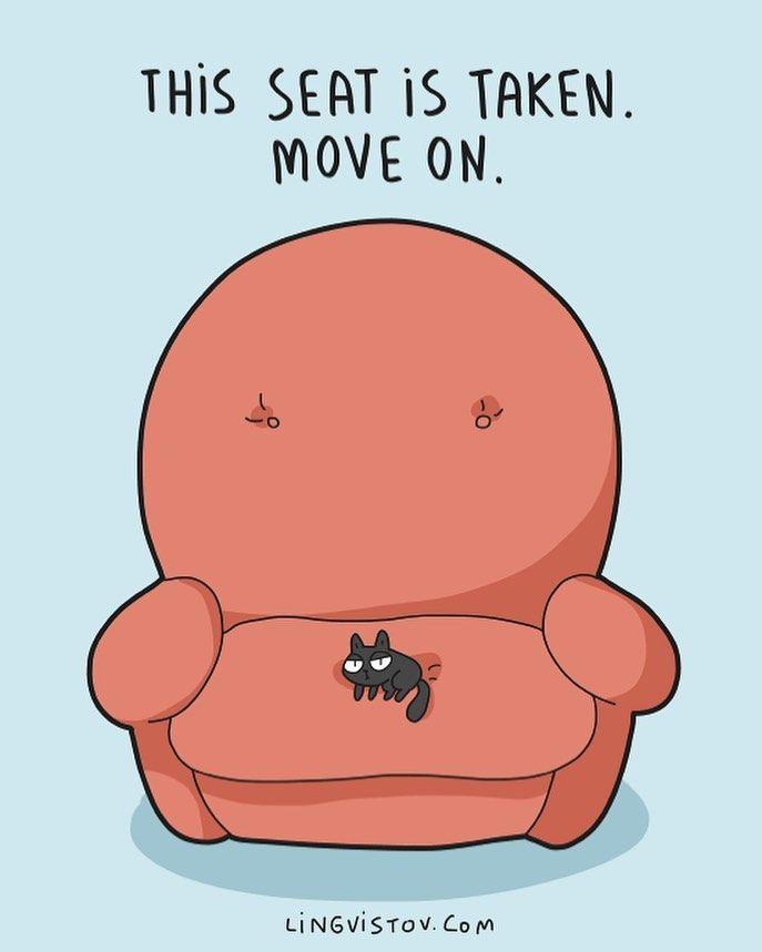 "Lingvistov on Instagram: ""Visit our online shop - Lingvistov.com  #funny #illustration #doodle #drawing #cute #quotes #jokes #comics #cats #cats🐱 #catsofinstagram…"""