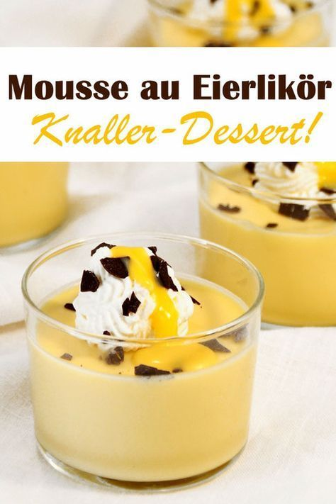 Eggnog mousse. Pops dessert! -  Mousse au egg liqueur – great dessert for adults, on holidays such as Christmas or Easter or when - #Beef #dessert #eggnog #FrenchPastries #FrenchRecipes #ItalianRecipes #mousse #Pops #Potatoes