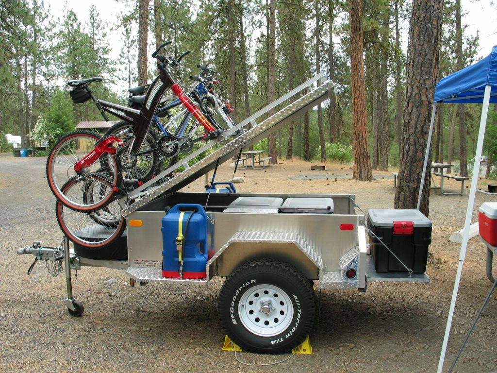 Off Road Trailer With Bike Rack Kayak Trailer Jeep Camping