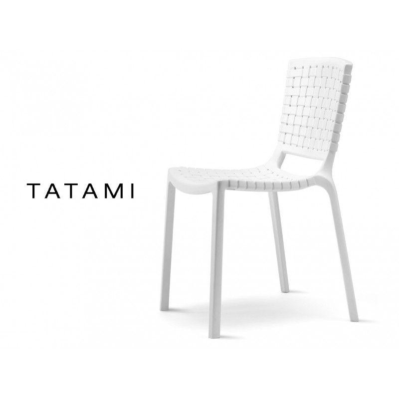 Tatami Chaise Tresse Plastique Blanc Lot De 6 Chaises Tatami Chaise Design Chaise