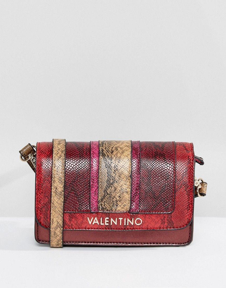bc5612e7f Valentino by Mario Valentino Faux Snake Cross Body Bag - Red ...