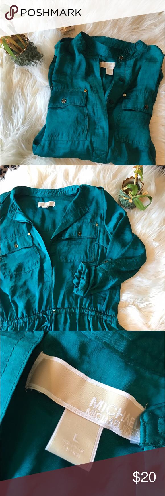 Green dress shirt mens Emerald green Michael Kors dress shirt  Dress shirts Emeralds and