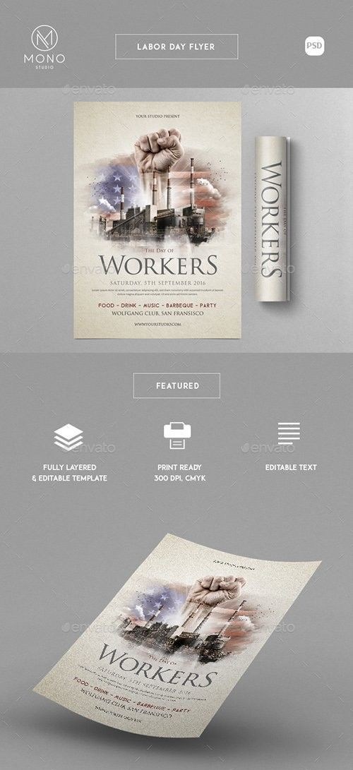 Labor Day Flyer Template  Psd Templates    Labour