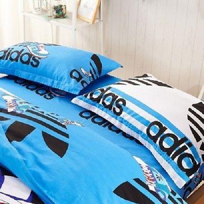 Queen Size Blue Adidas Duvet Cover