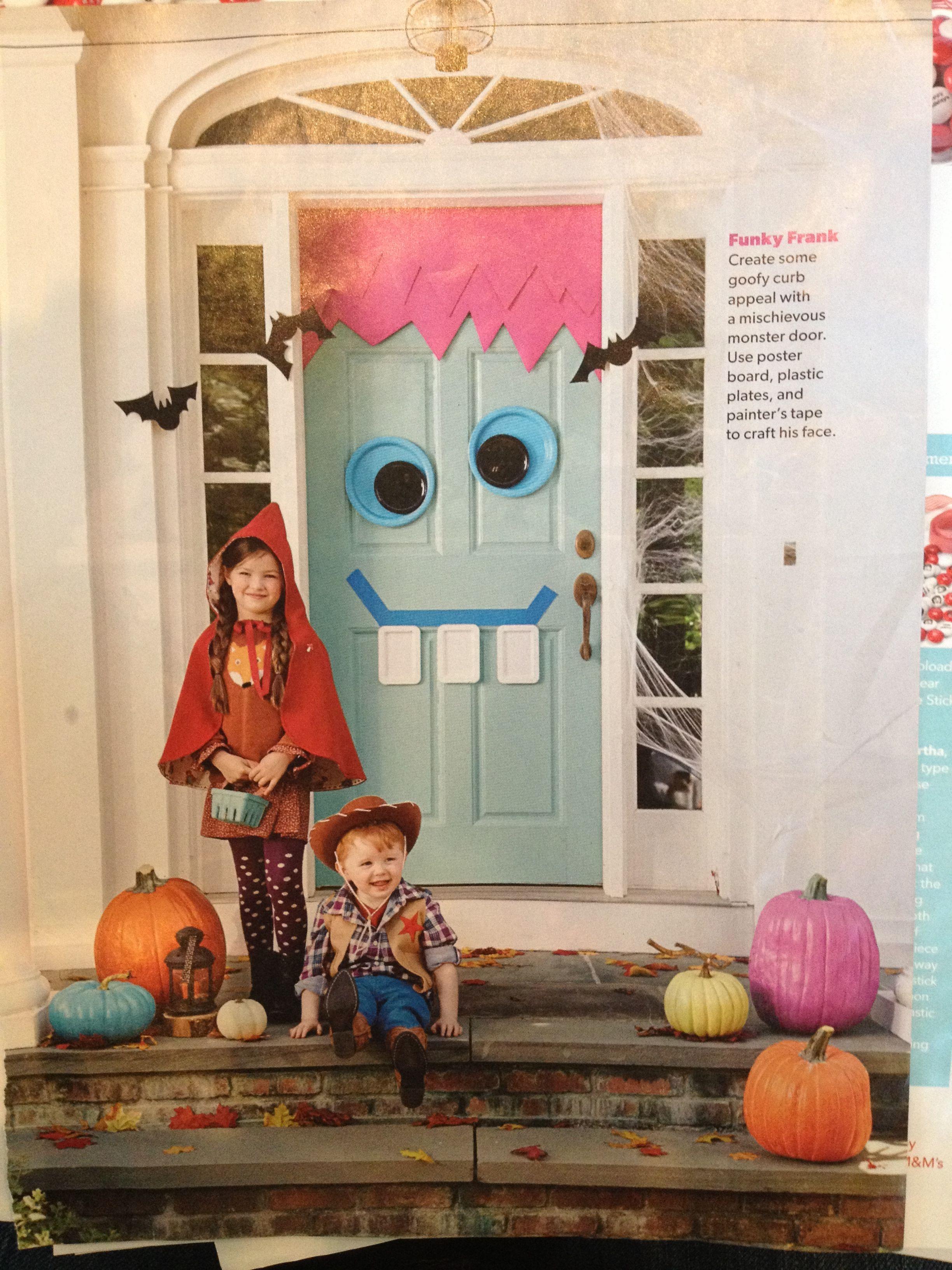 Front door decorations Halloween Pinterest - door decoration halloween
