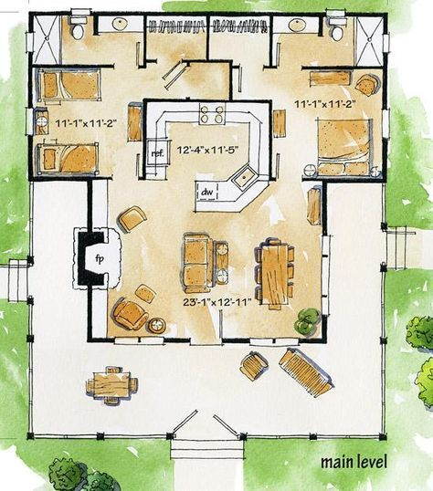 Cottage House Plan 1907