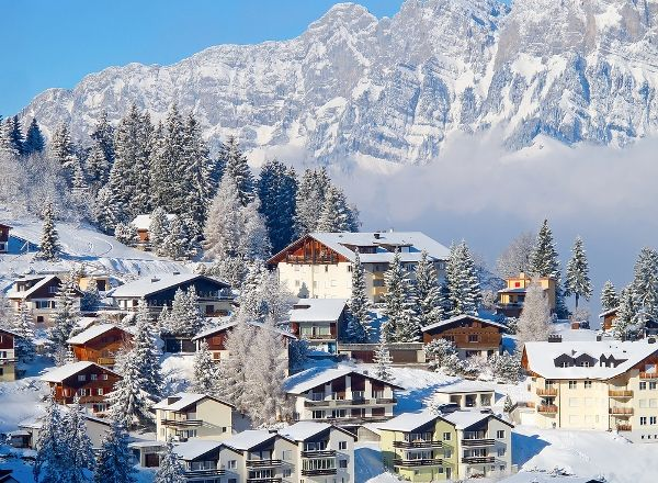 Swiss Alps Skiing Resorts