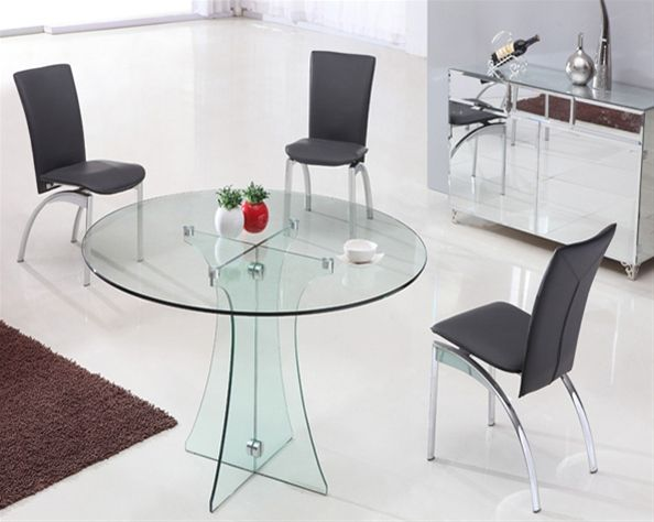 Amazing Modern Glass Dining Tables Round Dining Table Furniture Glass Round Dining Table Glass Dining Table