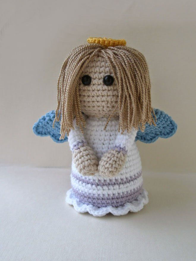 Crochet Amigurumi Doll Angel - Free Patterns | Crochet dolls free ... | 880x660