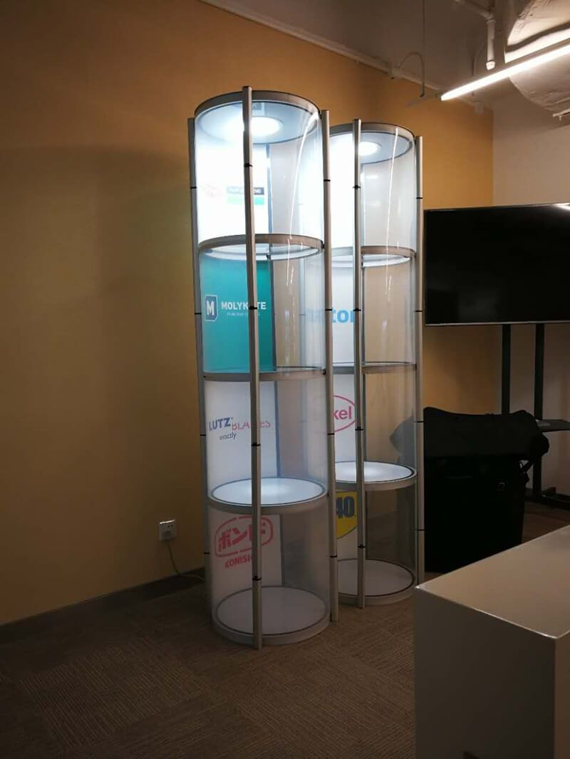 Exhibition Display Racks : Jewelry display shelves stand display rack spiral showcase