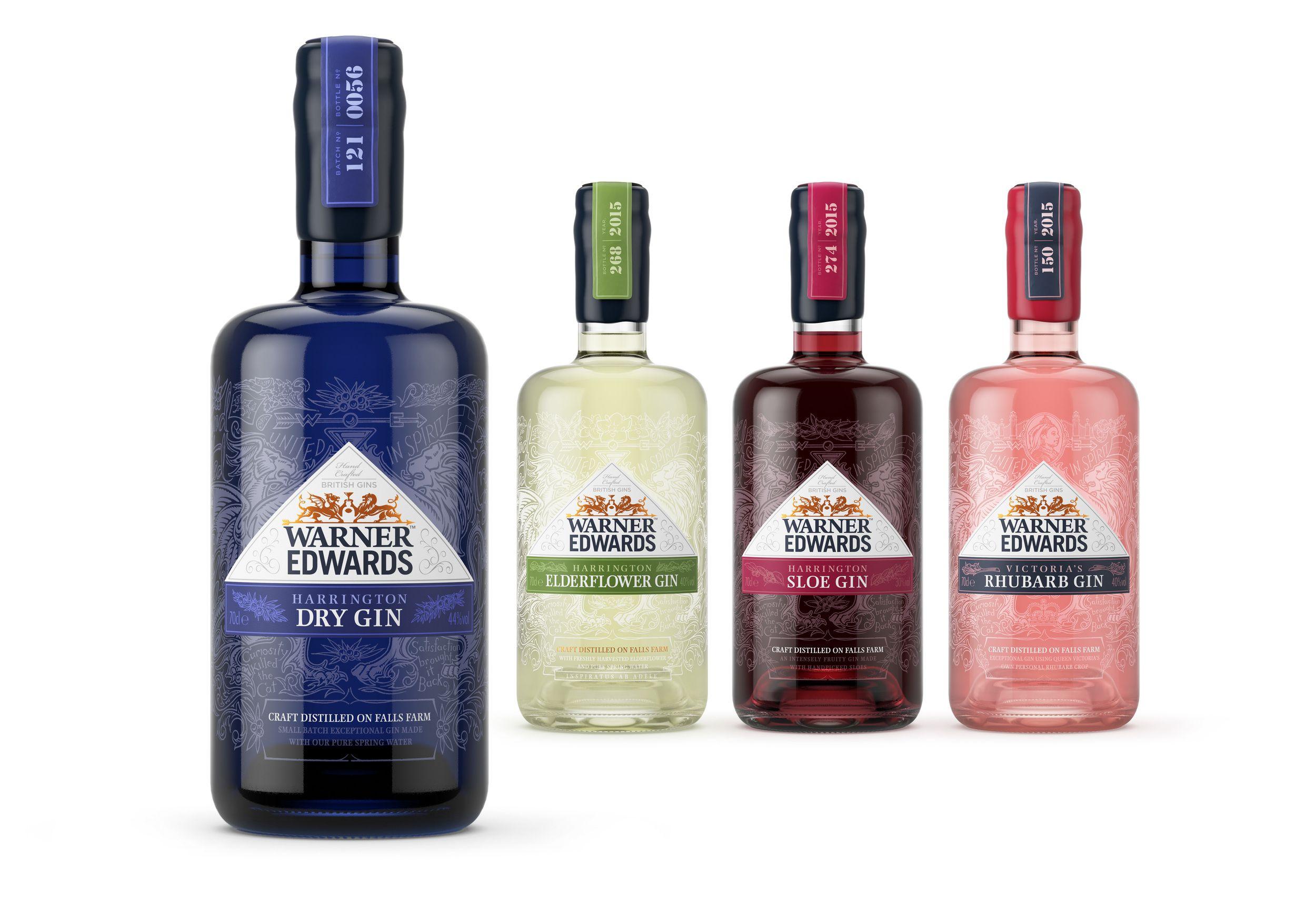 Warner Edwards Craft Gin — The Dieline - Branding & Packaging