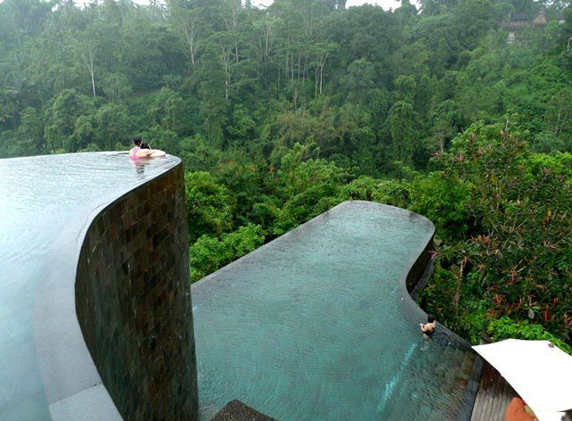 I want to go to this hotel! It's the Ubud Hanging Gardens Hotel in Bali.