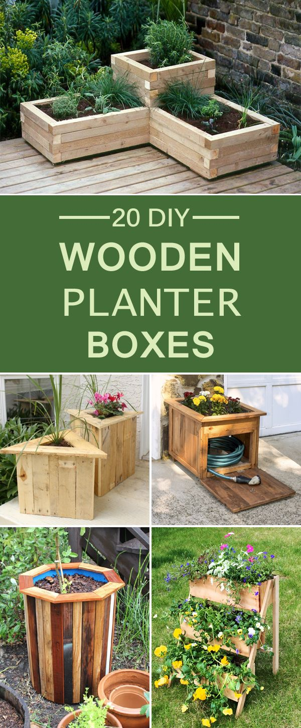 20 diy wooden planter boxes for your yard or patio [ 600 x 1450 Pixel ]