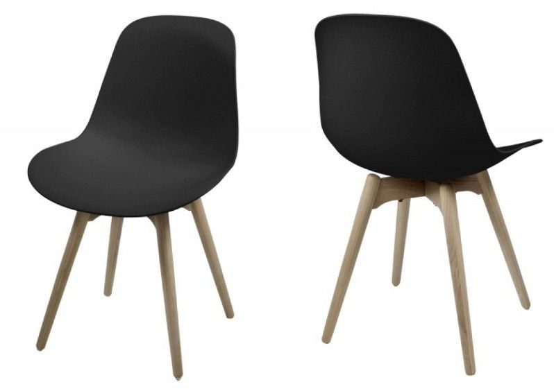 Stuhl 2er Set Schwarz Lack Woody 169 00159 Eiche Kunststoff Modern Jetzt  Bestellen Unter: