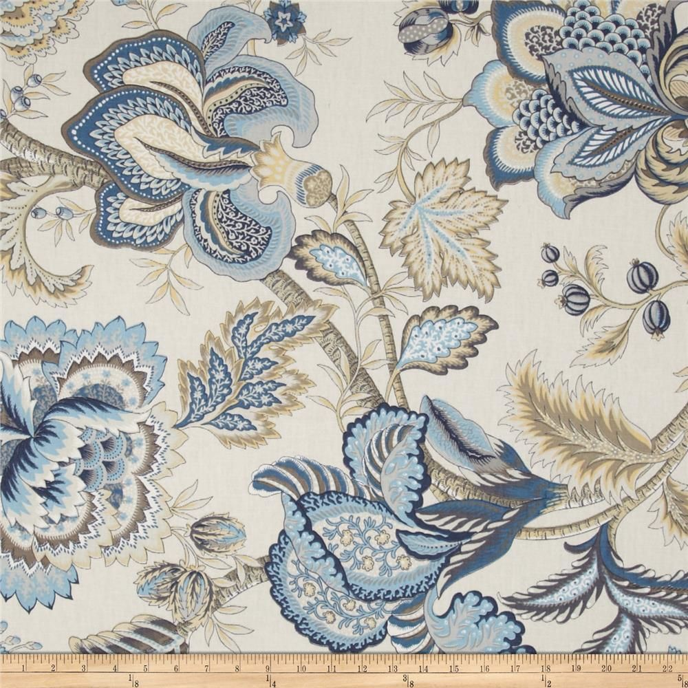 Tempo Jacobean Floral Blue from Screen