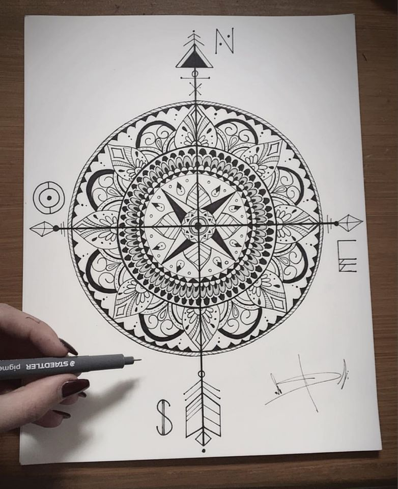 17+ How to draw a mandala without a compass ideas
