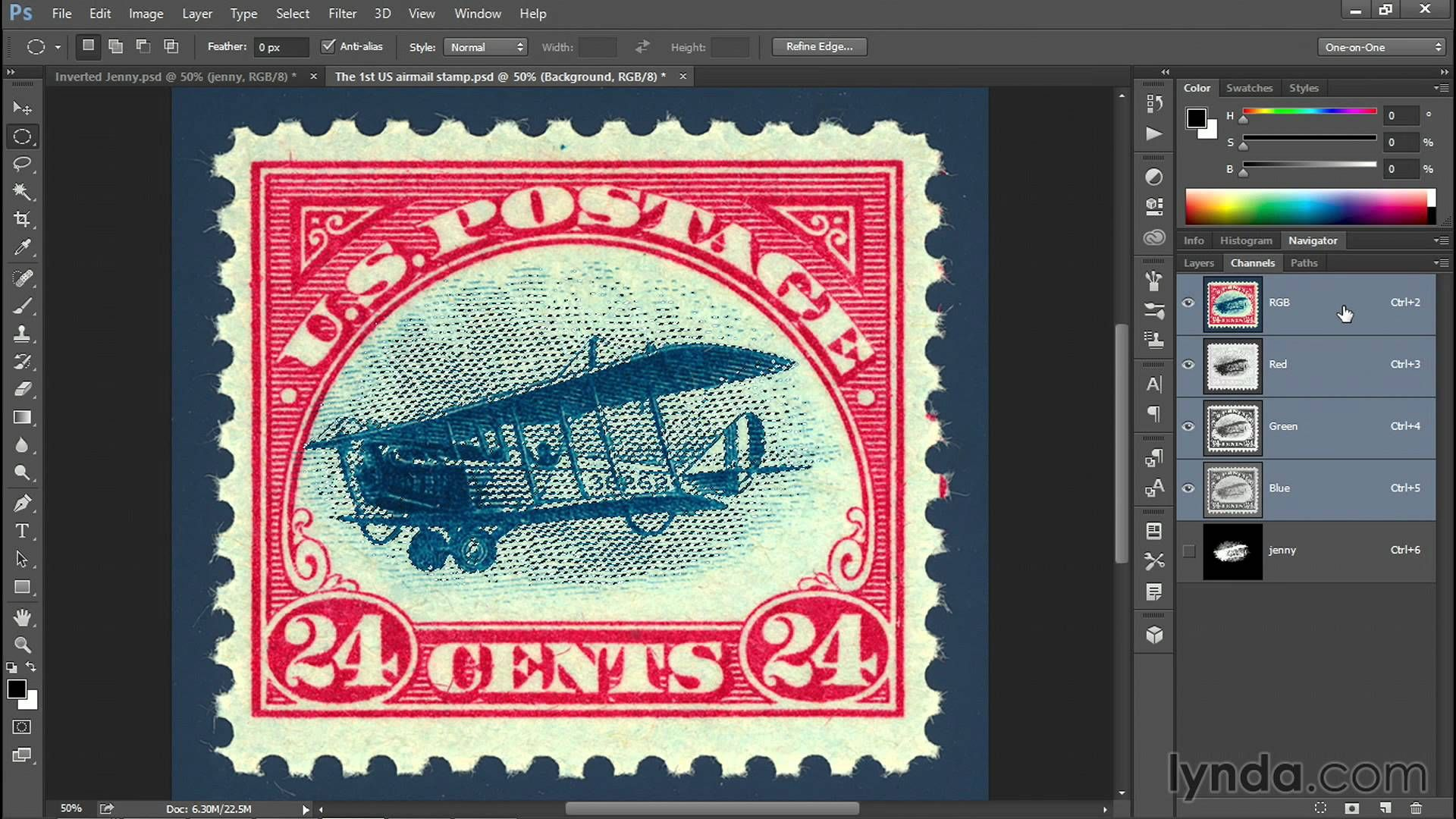 Photoshop Tutorial: Forging a million-dollar stamp in