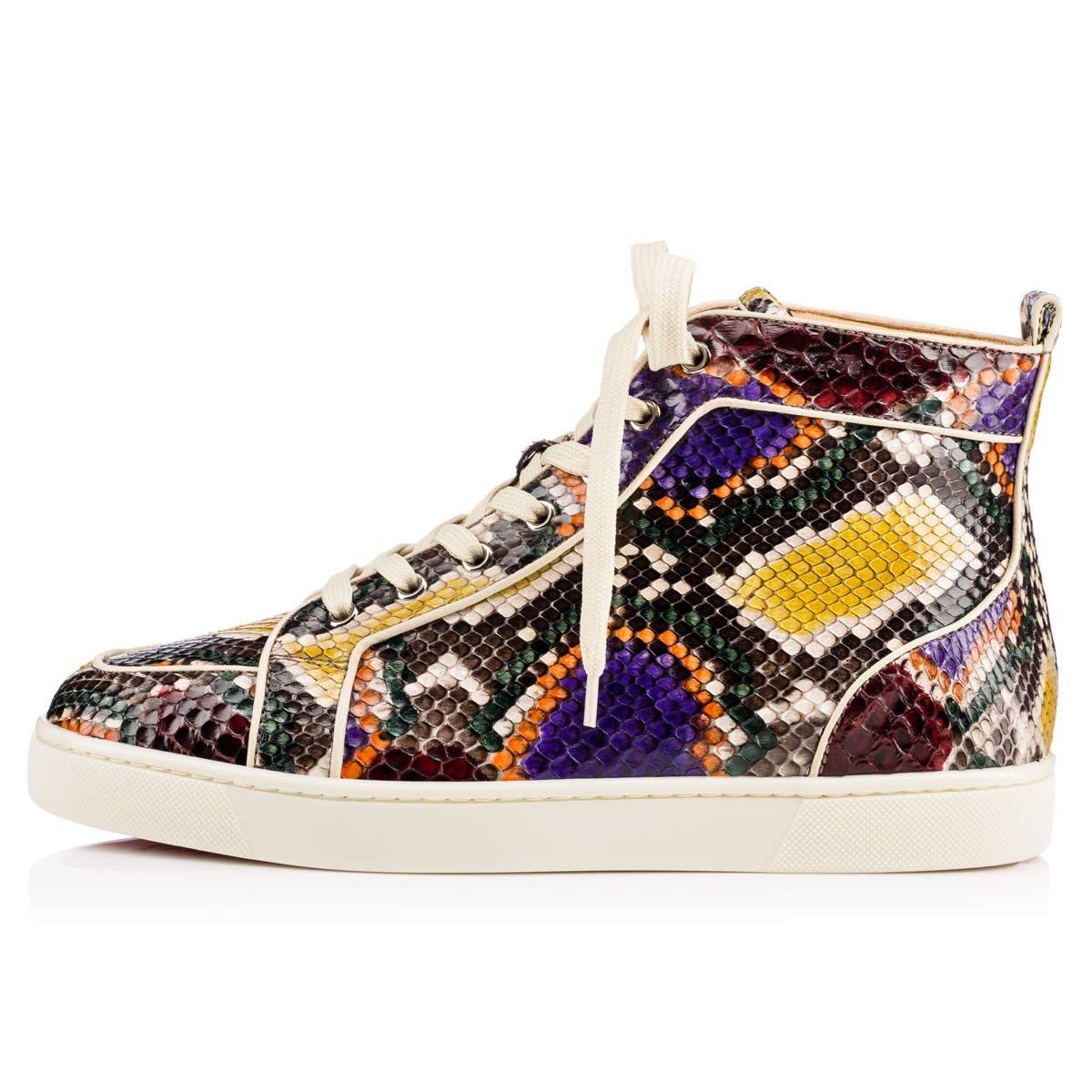 Rantus Orlato Flat Multi/Etain Python Palette - Men Shoes - Christian  Louboutin
