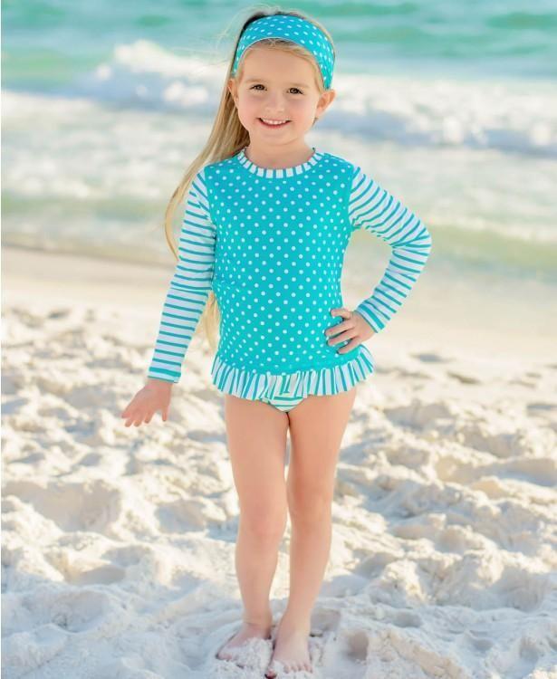 3a53d126c RuffleButts swim long sleeve rash guard bikini in 2019 | swimsuits ...