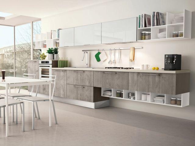 moderne praktische Küche planen Unterschränke Wandregal System - bilder in der küche