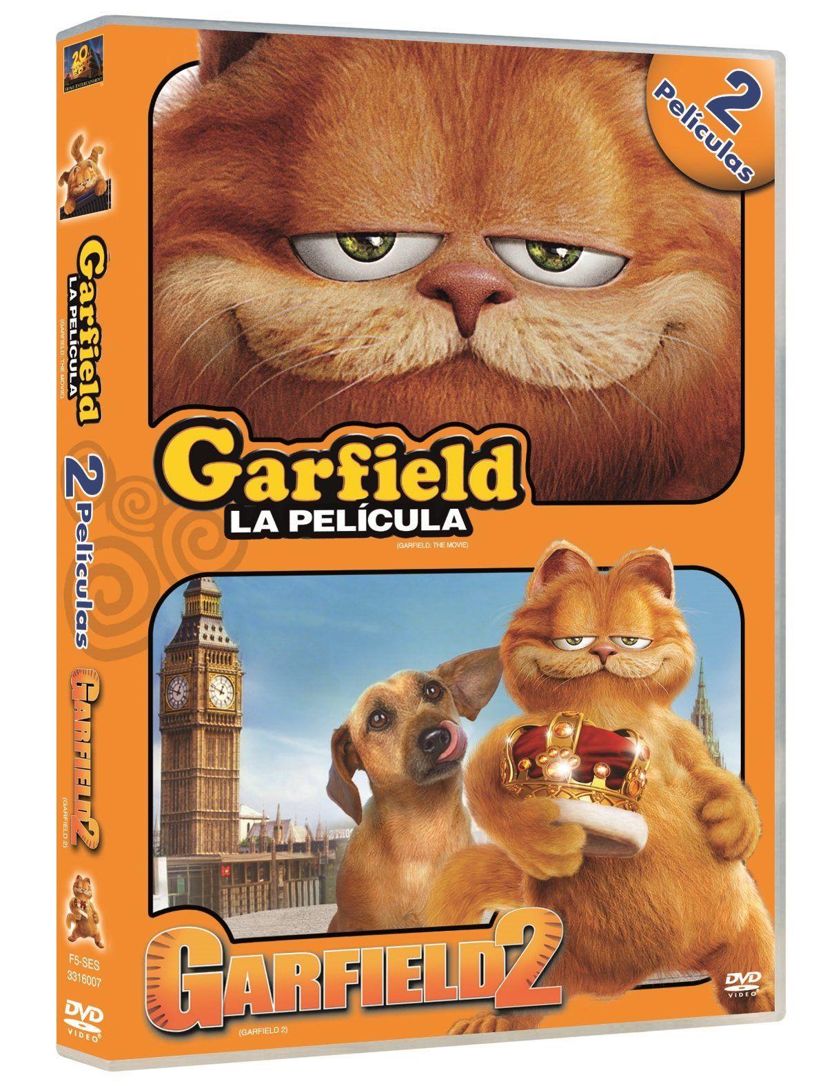 Pack Garfield 1 Garfield 2 Dvd Pack Garfield Dvd Garfield Childhood Movies Dvd